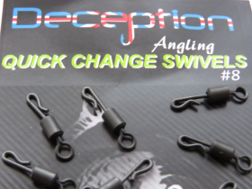 Deception Angling Quick change ring swivels 11