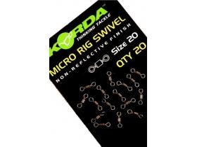 Korda Micro Rig Swivel - 20 pcs - микро вирбели